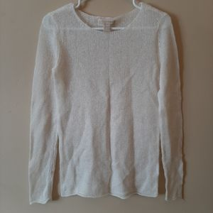Michael Kors Sheer White Sweater